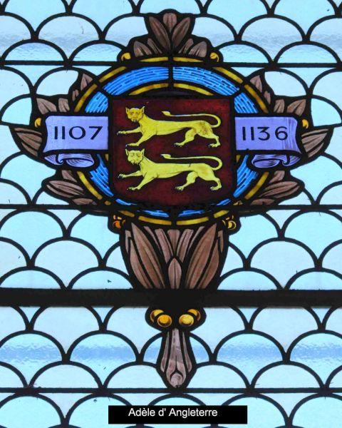 Armoiries d'Adèle d'Angleterre, fille de Guillaume le Conquérant, l'une des premières prieures de Marcigny