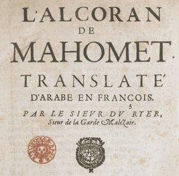 André du Ryer et l'Alcoran de Mahomet