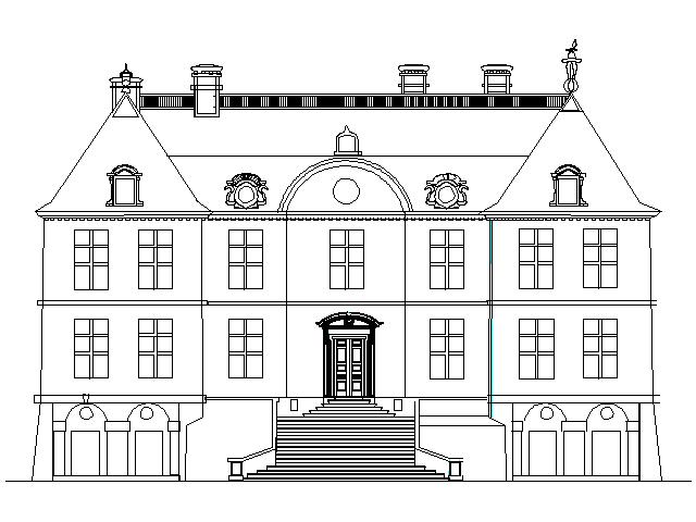 Reconstitution de la façade du château d'Anglure