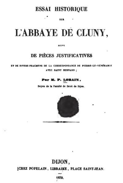 L'abbaye de Cluny par Prosper Lorain