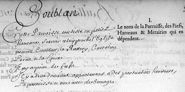 Coublanc en 1666