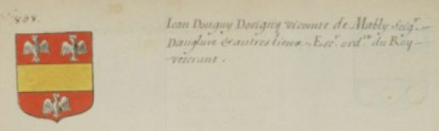 Armoiries de Jean Donguy d'Origny