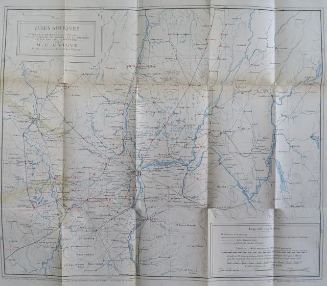 Carte des voies antiques