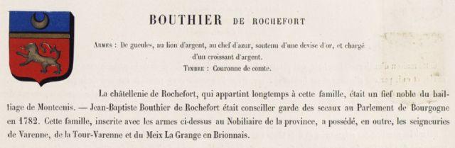 Famille Bouthier de Rochefort (Semur-en-Brionnais)