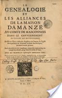 Généalogie de la maison d'Amanzé par d'Hozier et Palliot