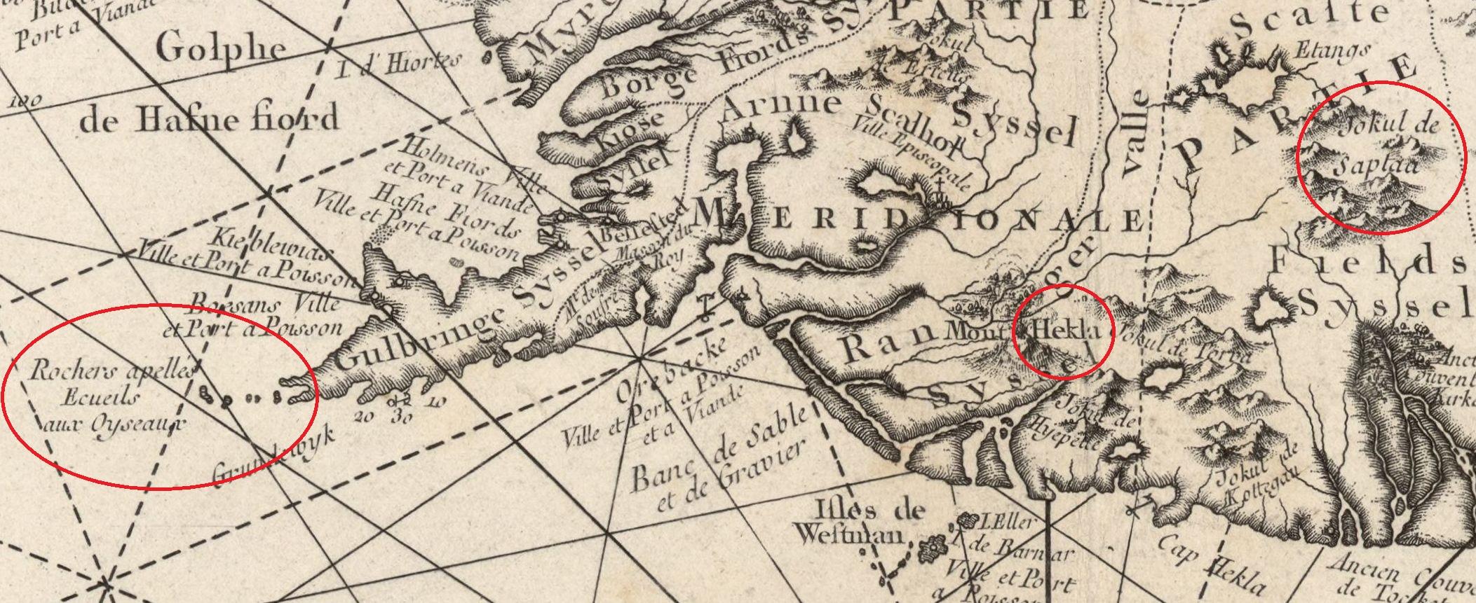 Carte ancienne de l'Islande