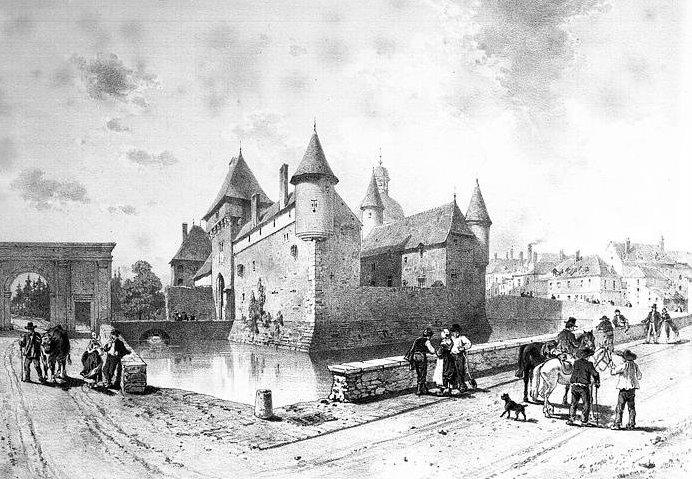 Le château de La Clayette, dessin d'Émile Sagot (XIXe siècle)