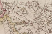 Carte du Dauphiné par Jean de Beins - Région de La Tour-du-Pin - 1613