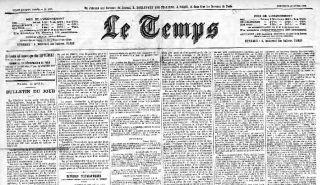 Le Temps, édition du 14 avril 1886