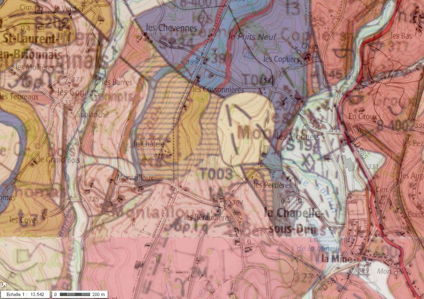 Carte géologique (BRGM)