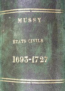 1er registre d'état-civil de Mussy