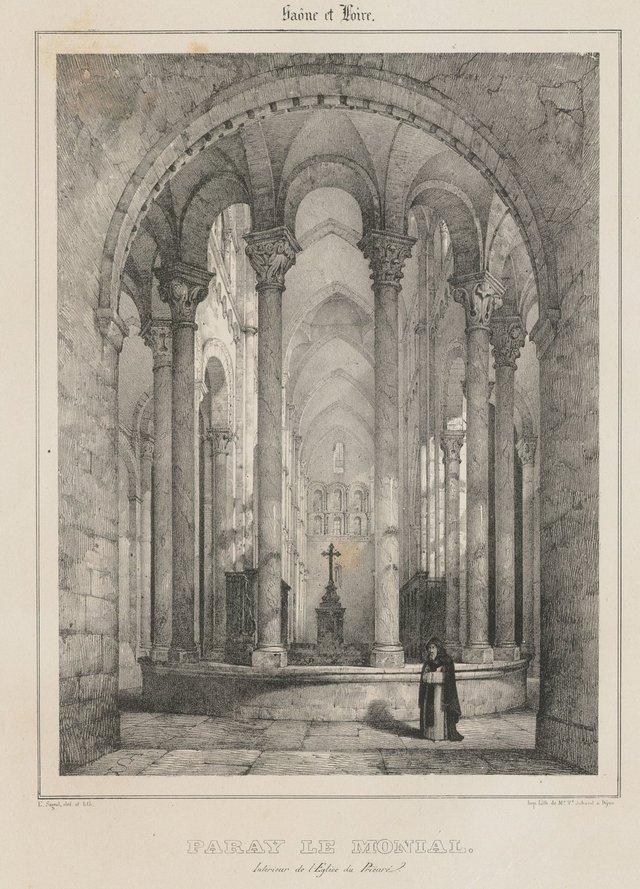 Intérieur de l'église du prieuré de Paray-le-Monial