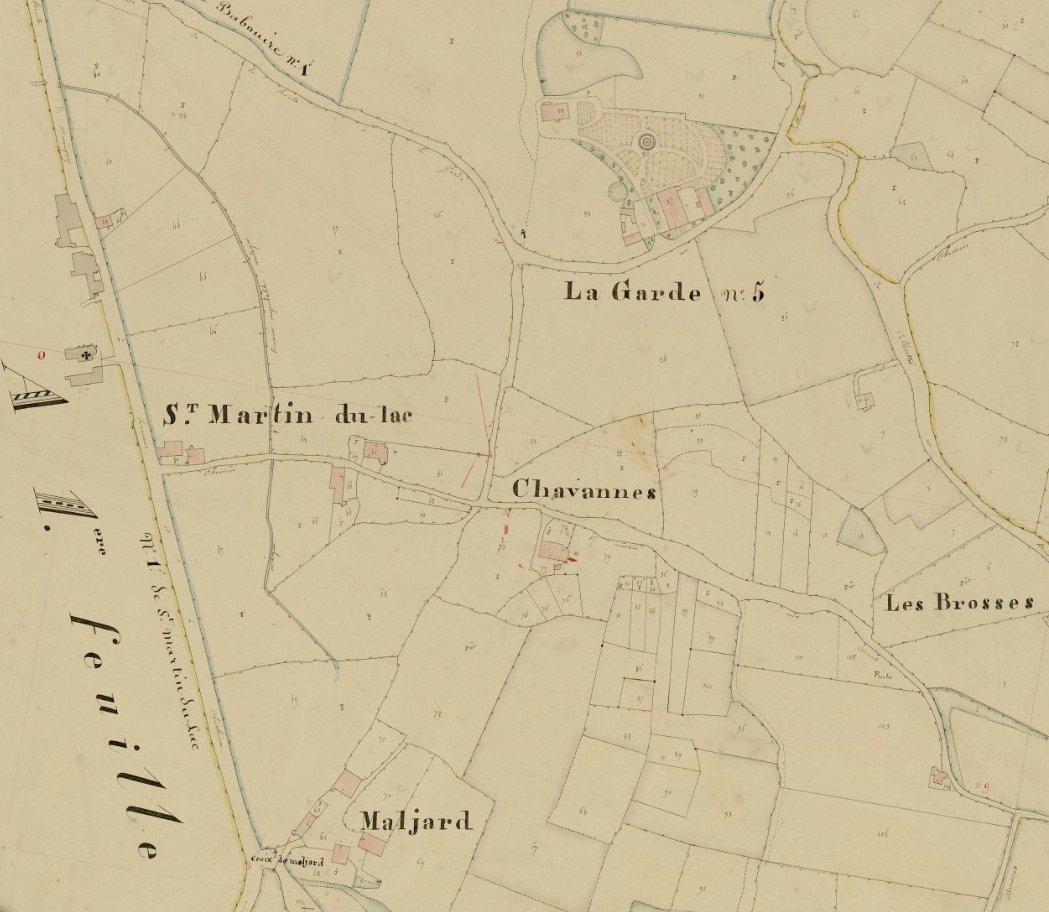Cadastre napoléonien de Saint-Martin-du-Lac