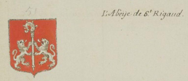 Armoiries de l'abbaye de St-Rigaud