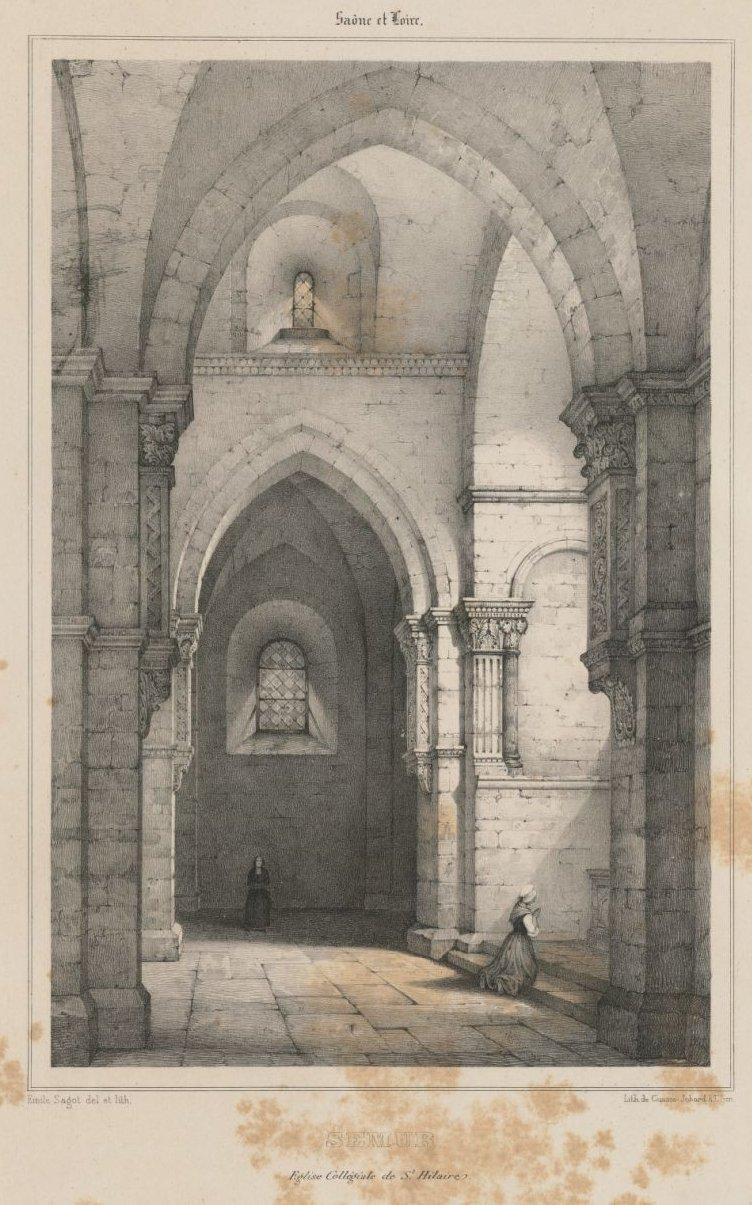 Église collégiale Saint-Hilaire à Semur-en-Brionnais