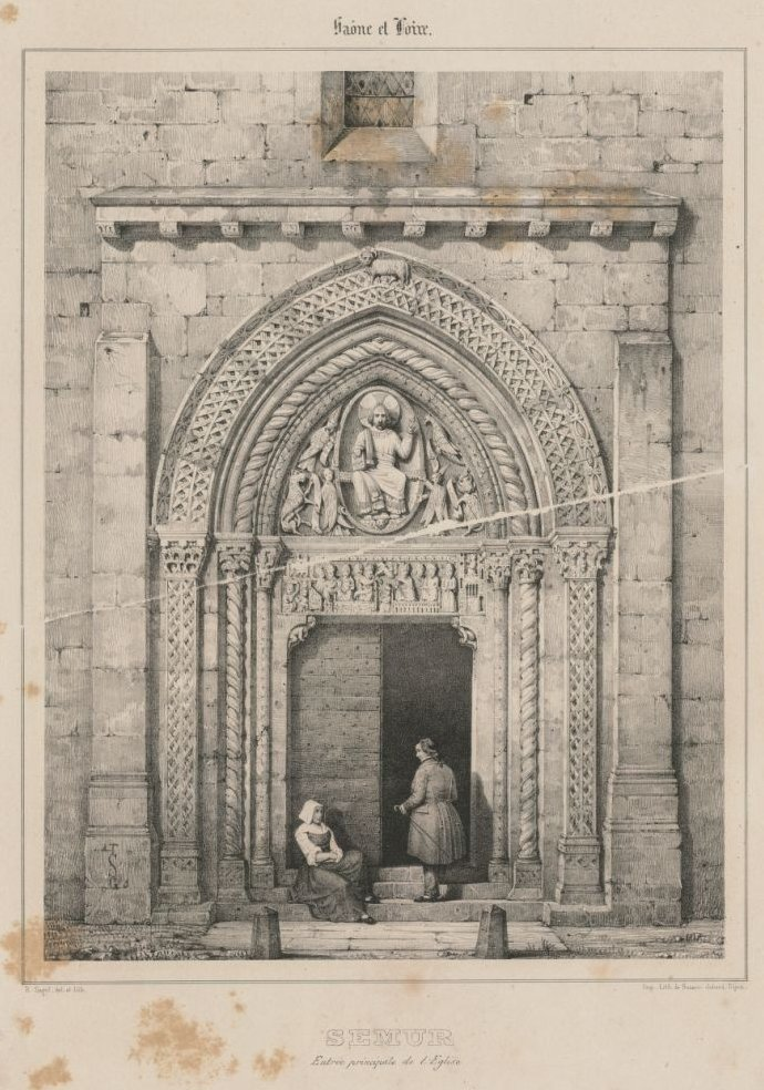 Entrée principale de l'église de Semur-en-Brionnais