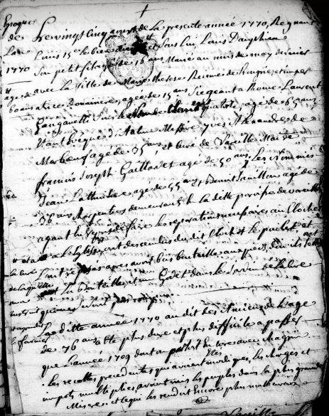 Vareilles 1770-1