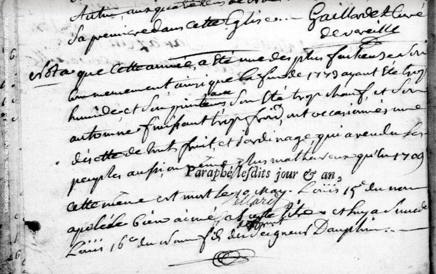 Vareilles 1774