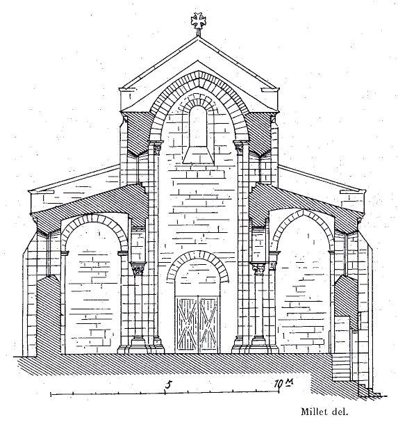 Coupe transversale de l'église de Bois-Ste-Marie