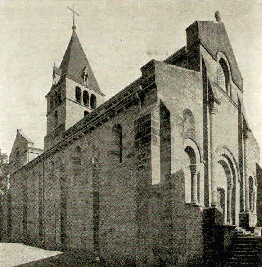 Façade et élévation de l'église de Bois-Ste-Marie