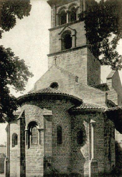Chevet de l'église de Châteauneuf