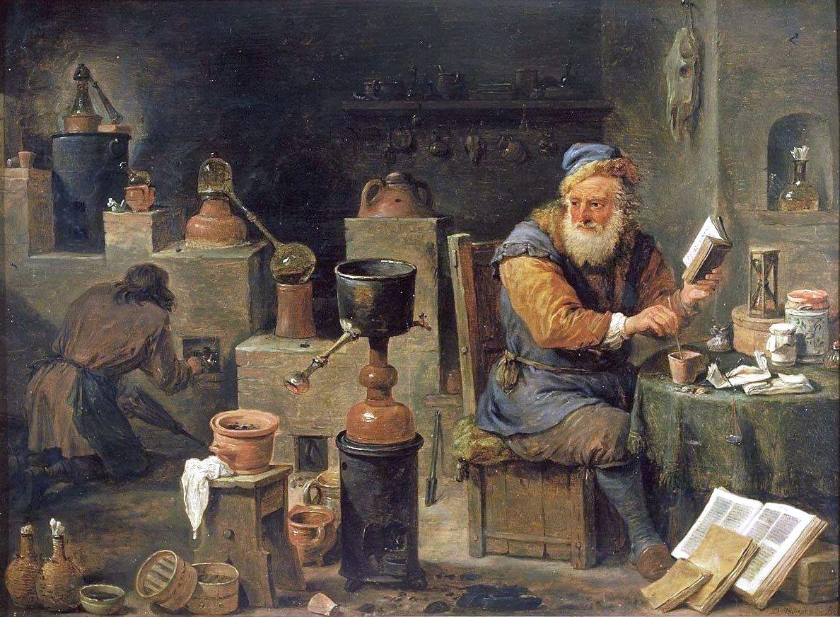 Alchimiste au XVIIe siècle