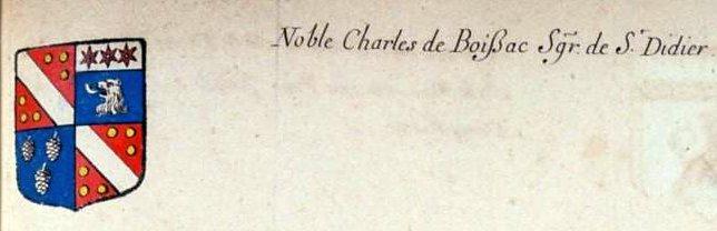 Noble Charles de BOISSAC