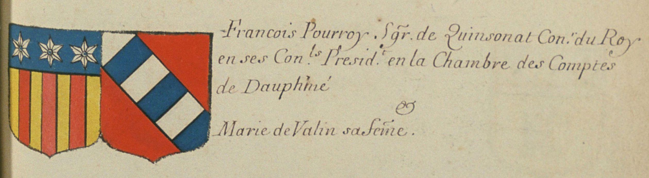 blason Pourroy de Quinsonnas-1