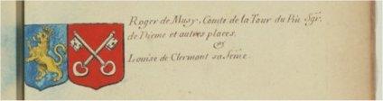 Roger de Musy et Louise de Clermont sa femme
