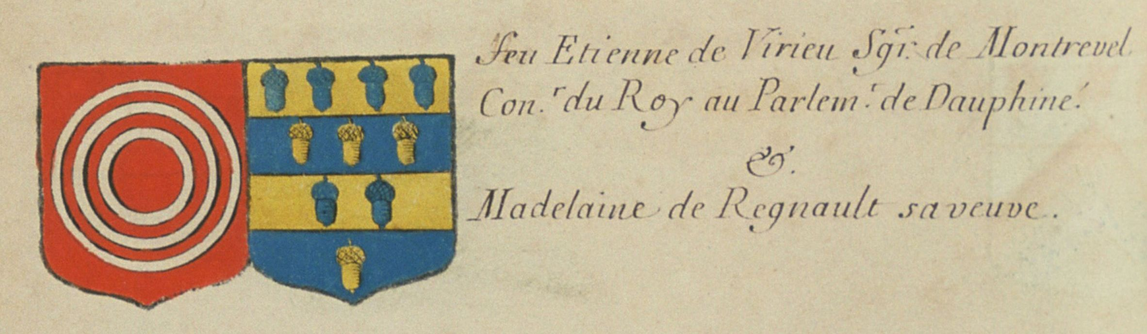 Blason d'Étienne de Virieu