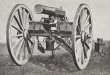 Canon à balles, dit mitrailleuse, sytème de Reffye (1866)