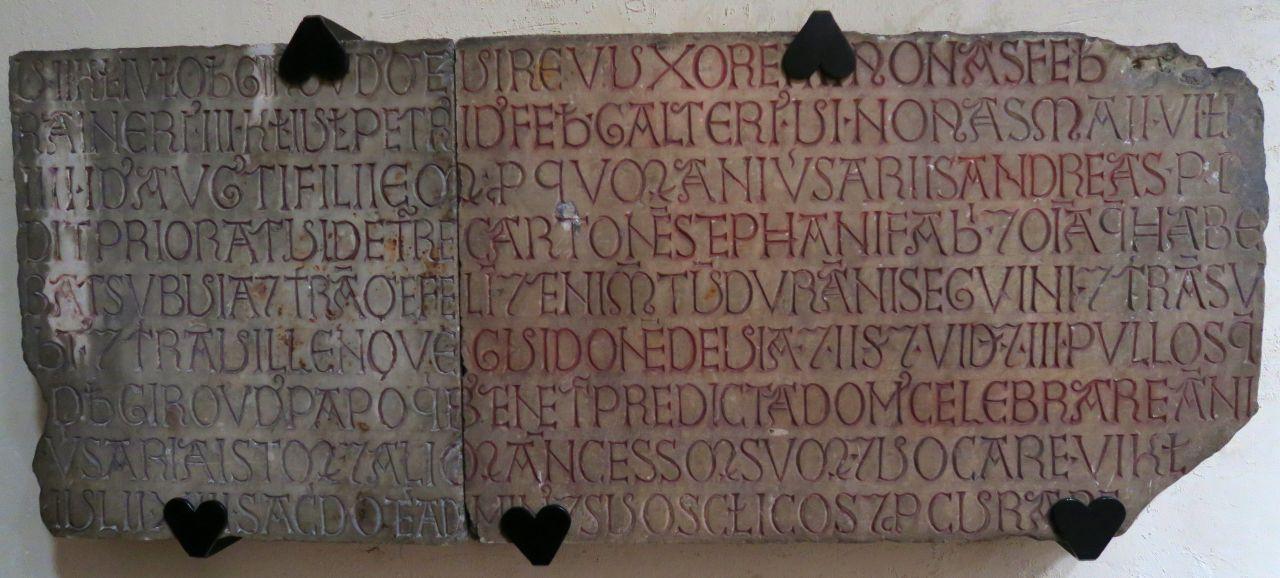 Fondation d'anniversaires de la famille de Virieu, église de La Tour-du-Pin