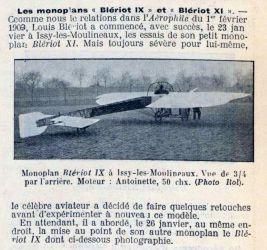 Monoplan Blériot IX