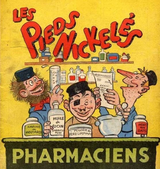 Les Pieds nickelés pharmaciens font de la science