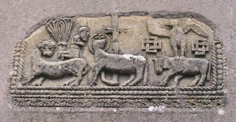 Bas-relief de l'église de Saint-Germain-la-Montagne