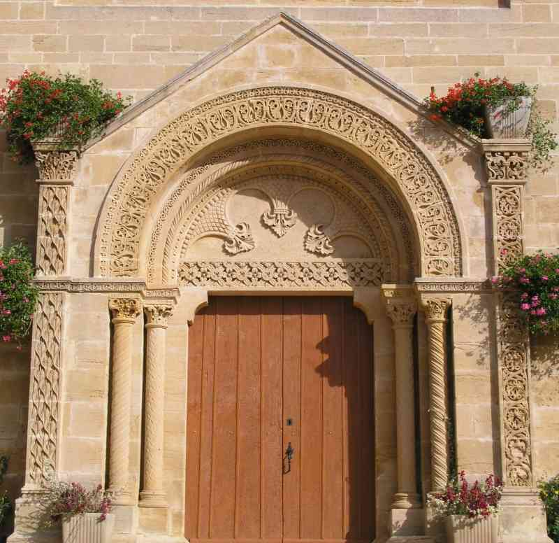 Portail de l'église de Tancon