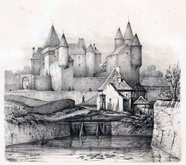 Voyage pittoresque en Bourgogne - La Clayette 1833
