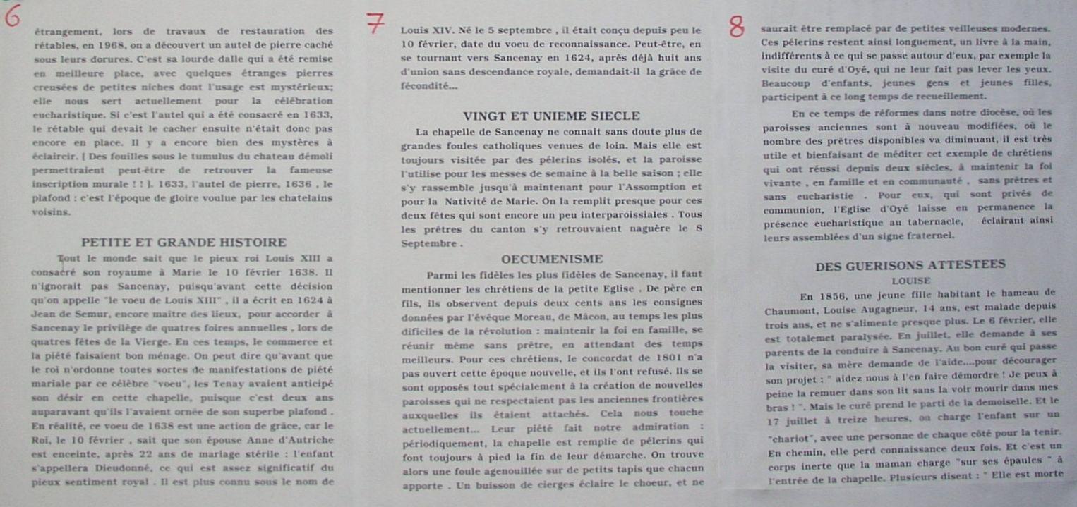 Histoire de la chapelle de Sancenay à Oyé - 3
