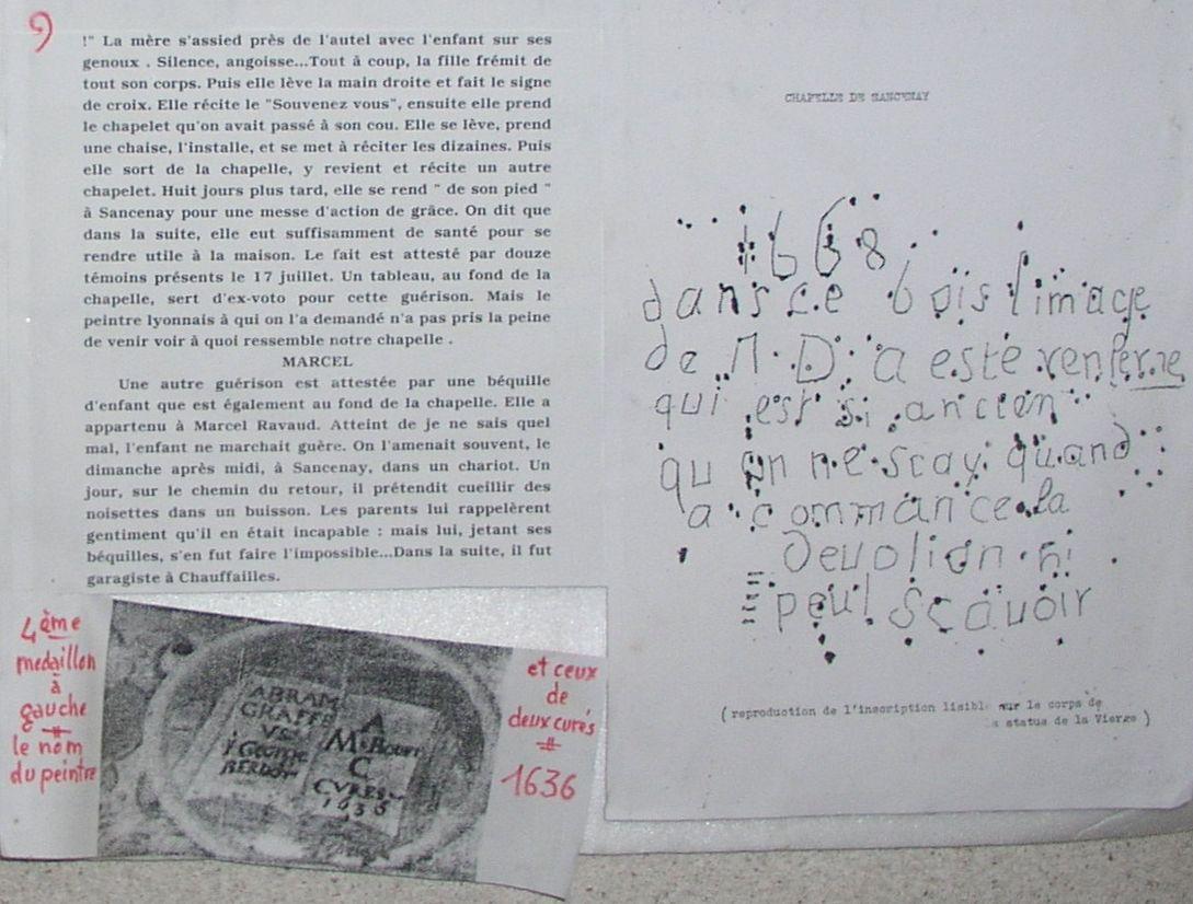 Histoire de la chapelle de Sancenay à Oyé - 4