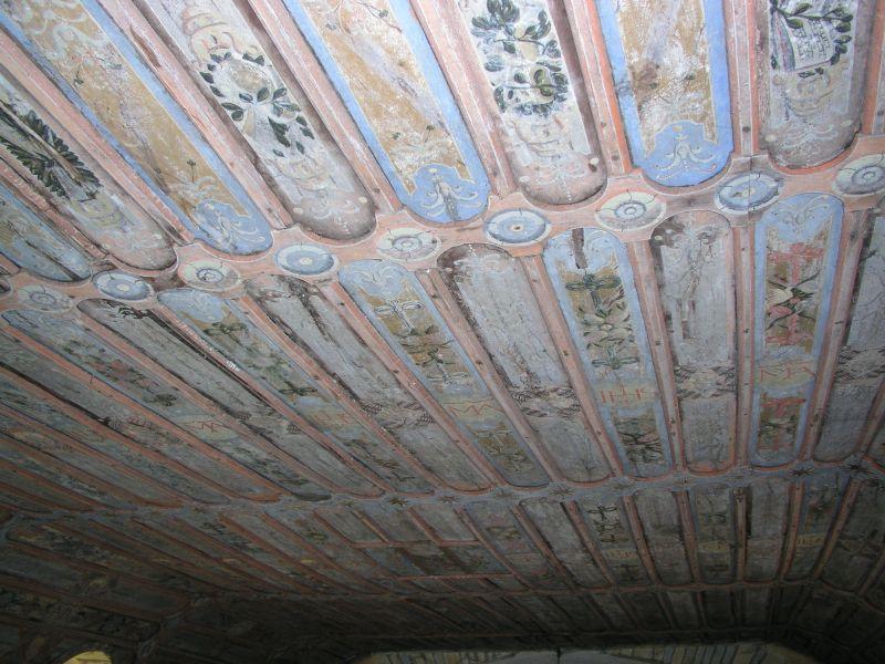 Plafond de la chapelle de Sancenay à Oyé classé en 1970
