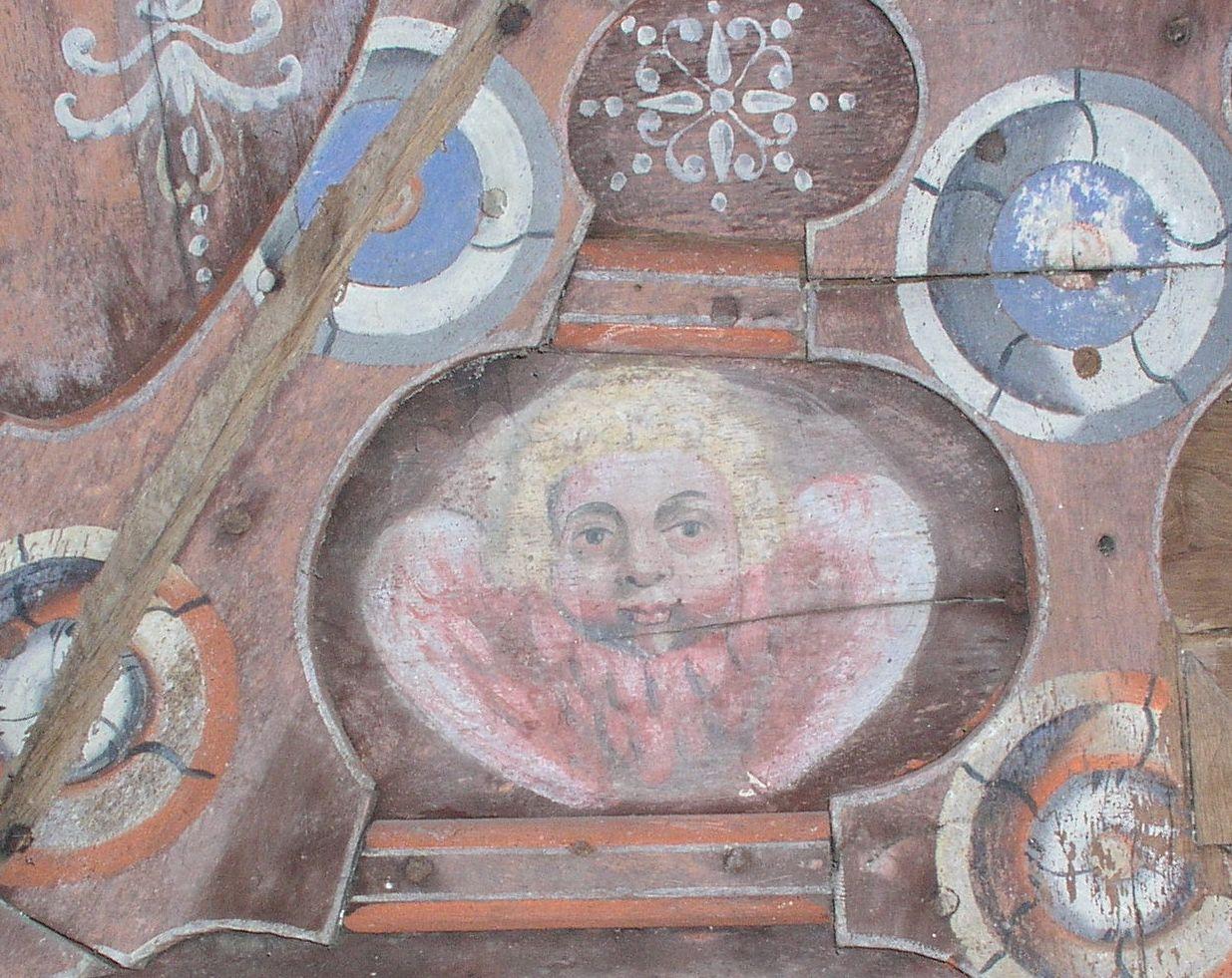 Médaillon du plafond de la chapelle de Sancenay à Oyé