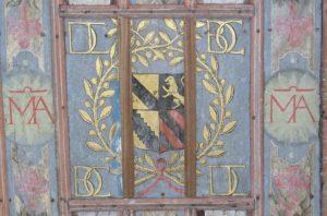 Plafond de la chapelle de Sancenay à Oyé