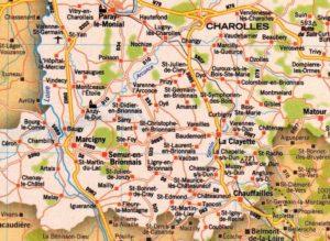 Carte du Brionnais