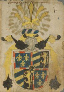 Blason du duc de Bourgogne (armorial d'Ortenburg ca 1470)