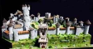 Maquette du château médiéval de La Tour-du-Pin (La Tour Prend Garde)